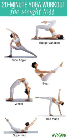 20-Minute Yoga Workout for Weight Loss | Yoga for Weight Loss | Yoga to Lose Weight for Beginners | Yoga Poses for Weight Loss | http://avocadu.com/free-20-minute-yoga-workout-for-weight-loss/