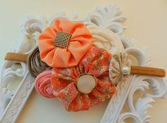 Baby Headband Summer Headband Newborn Flower by poppyandmum, $16.00