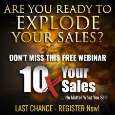 Register now for this FREE event before it's too late.  You'll discover how to increase your sales without mortgaging your house on Facebook ads or working your butt off 24 hours a day!  Where: Online When: Thursday, July 11, 2019 Time: 3:00 p.m. Eastern  #dontmissthis #jimedwards #tjemp #thejimedwardsmethod#thejimedwardsmethodpremium #success #successtips #successtip#salescopy #copywriting #results #realresults #getresults #webinar #10x#10xsales #free #freewebinar #actnow #register Network Marketing Tips, Marketing Tactics, Social Marketing, Internet Marketing, Online Marketing, Business Goals, Business Tips, Online Business, Digital Marketing Business