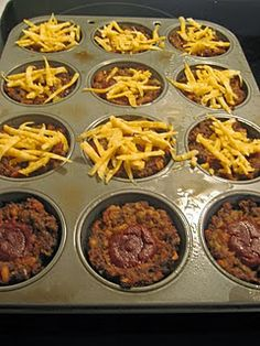 Mini Meatloaf - This link has several other great recipes.  Mini Chicken Pot Pies, Chili Frito Bake, Caramel Fruit Dip.  Check it out!