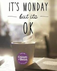 Cream N Bean coffee can cure your case of the Monday Blues.. #coffeetime  #monday #mondaymotivation #perfectcup #latte