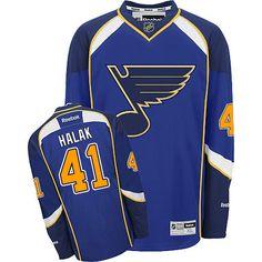 Jaroslav Halak jersey-Buy 100% official Reebok Jaroslav Halak Men s Premier  Royal Blue Jersey 457cd73c6