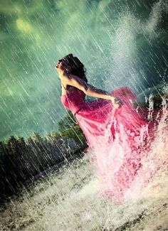 Life isn't about waiting for the storm to pass,it's about getting out & dancing in the rain. My favorite place to dance is sometimes in the Rain <3