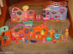 Huge Lot Littlest Pet Shop LPS Pets House Building Furniture Accessories | eBay