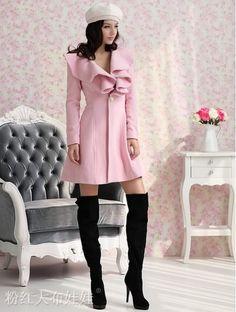 Pink Ruffle Trench Coat