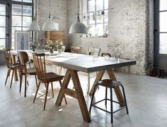 industrial dining rooms - Google Search