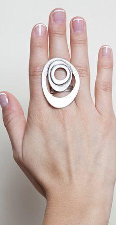 Ripple Ring on Etsy, $25.00
