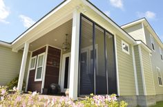 LAS' durable line of HomeGard Bahama shutters are custom built and hand assembled for strength, storm protection, and improves the look of your home. Outdoor Shutters, Exterior Shutters, Back Porch Designs, Bahama Shutters, Shutter Wall, Faux Window, Privacy Walls, Extruded Aluminum, Outdoor Settings