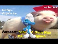 Freitag - komm lass uns Wochenende machen ;) Lustiger Schlumpf, Zoobe, A... Animation, Content, Youtube, Friday, Humorous Sayings, Figurine, Funny, Animation Movies, Anime