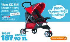 Kanz KZ 715 Jogger 3 Tekerli Bebek Arabası 2013 Model - Kırmızı 187.90 TL KARGO BEDAVA! 30 TL değerinde Puset Yağmurluğu Hediyemizdir.   Sipariş vermek için: http://www.happy.com.tr/Kanz_KZ_715_Jogger_3_Tekerli_Bebek_Arabasi_2013_Model_-_Kirmizi