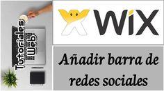 Wix 2017 - Añadir barra de redes sociales (español)