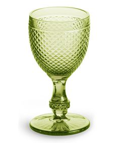 Take a look at this Olive Pressed Glass Goblet - Set of Four by Rosanna on #zulily today!