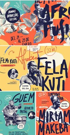 Expressive, colorful hand-lettered poster design for the Afro Fusion Festival Layout Design, Graphisches Design, Flyer Design, Editorial Design, Editorial Layout, Dm Poster, Design Poster, Design Graphique, Art Graphique