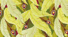 german illustrator & pattern designer Sabine Reinhart, Lost in Paradise Collection, Kimaya, Red Color Palette