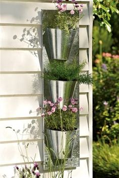 Metal Wall Planter woolly pocket | living wall planter | outdoor dreams | pinterest