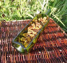 Wine Bottle Serving Platter GREEN