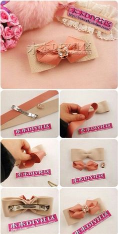 Cute hair bows for girls for decorating gifts and to help men for this holiday season lindos lazos para el cabello de – Artofit Handmade Hair Bows, Diy Hair Bows, Ribbon Hair Bows, Ribbon Art, Ribbon Crafts, Fabric Bows, Fabric Flowers, Hair Bow Tutorial, Diy Hair Accessories