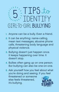 5 tips to identify girl-on-girl bullying  #MeanStinks