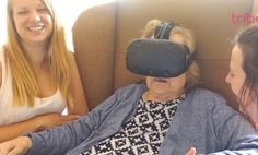 These elderly patients had trouble going out in public due to their dementia, so they were given the ability to explore the world through virtual reality goggles. They were thrilled and amazed by the scenic views, and got quite emotional when they were able to visit their home towns without having to