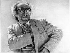 "Jean Olivier Hucleux      Dessin a la mine de plomb ""Jean Luc Godard"""