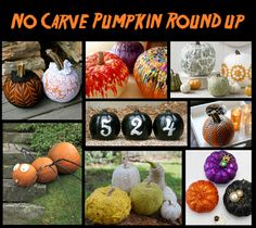 DIY No-Carve Pumpkin Roundup