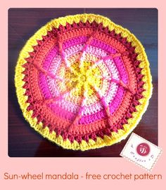 "crochet sun wheel ""square"" - free"