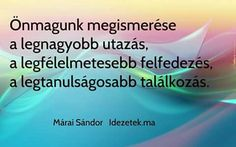 Márai Sándor Buddhism, Favorite Quotes, Einstein, Marvel, Change, Reading, Inspiration, Biblical Inspiration, Reading Books
