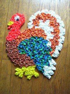 Turkey popcorn decoration.