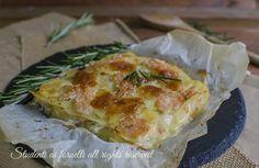 Parmigiana salmone e patate con scamorza al forno, secondo facile e veloce senza lessare le patate e senza besciamella.