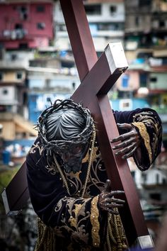 """""""Nazareno de San Pablo,"""" was carved in the 16th century in Seville, Spain and shipped to Caracas, Venezuela"""