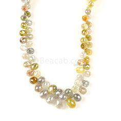 "1 Line - #""Medium Tones Diamond Drops"" - 71.50 cts - 2.5 x 1.9 mm to 5.9 x 3.9 mm (DIADRP1031)   Beacab.com: Diamond Drops"
