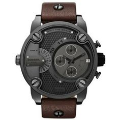 Relógio Diesel SBA Only The Brave Brown Dial Men's Watch - DZ7258 #Relogios #Diesel