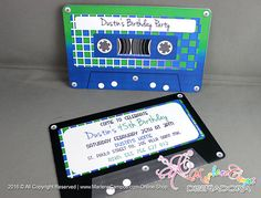 Cassette tapes Invitation Printable Retro cassette tape 80s