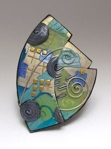 Image of SeaCliff Brooch 23 $240 by tory hughes