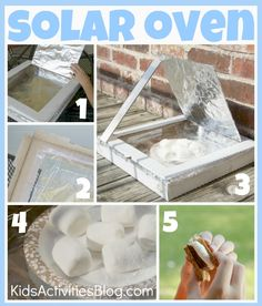 "Easy DIY steps to creating a ""solar oven"" out of a pizza box - from Kids…"