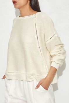 Ansel Pullover by Ulla Johnson | shopheist.com Favorite summer outfit, casual outfit, minimal outfit, simple outfit, comfy outfit, summer vacation outfit, summer travel outfit, street style