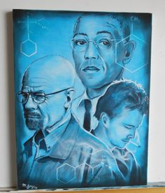 "#Breaking Bad original #artwork ""Gus,Walter and #Jesse"".Pastel & Acryli,  View more on the LINK: 	http://www.zeppy.io/product/gb/3/211506017/"