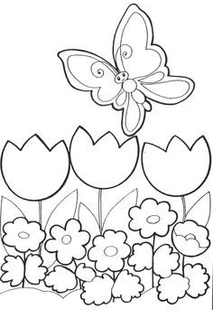 Top 35 Free Printable Spring Coloring Pages Online
