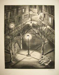 Emil Ganso - Paris Night, 1930
