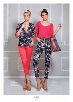 Floral printed jeans! Fashion Watches, Women's Fashion, Ss 15, Capri Pants, Floral Prints, Printed, Jeans, Collection