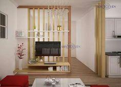Living Room Partition Design, Living Room Divider, Living Room Tv Unit Designs, Room Partition Designs, Diy Room Divider, Living Room Interior, Home Room Design, Home Design Plans, House Design