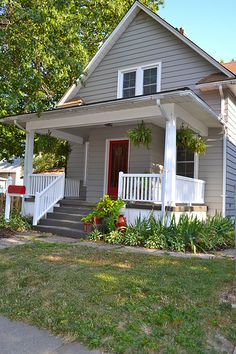 Newly Painted Porch Railings by newlywoodwards, via Flickr