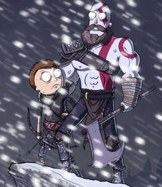 Rick and Morty x God of War