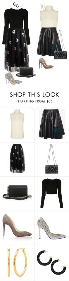"""""""Topic"""" by audrey-balt ❤ liked on Polyvore featuring Theory, Alexander McQueen, Navy, MCM, Alexander Wang, Rosetta Getty, Christian Louboutin and Zuhair Murad"""