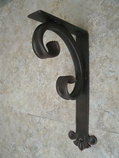 Hand Crafted Decorative Heavy Duty Wrought Iron Angle Bracket 7D X 13L Ideal for…