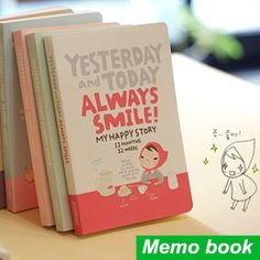 Smile! Compact Daily Planner //Price: $12.49 & FREE Shipping //   #lovehippiecat #paper #scrapbooking #craft #papercrafts