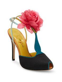 3fcfd4ab10e CHARLOTTE OLYMPIA Amphora Rosette T-Strap Peep Toe Pumps.  charlotteolympia   shoes