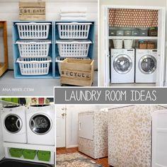 TONS of Laundry Room ideas