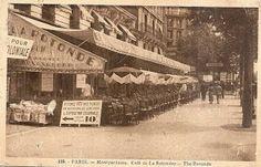 """""""LA ROTONDE"""" - Dancing-Grill-Room 105, Bd Montparnasse (angle Bd Raspail) Fleurus 35-23 - 35-24 (Station Métro Vavin)  au dos : F. DAVID, 21, rue des Réservoirs, Versailles."""