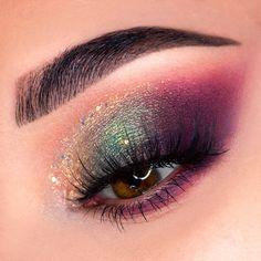 Makeup Eye Looks, Eye Makeup Art, Smokey Eye Makeup, Glam Makeup, Skin Makeup, Eyeshadow Makeup, Makeup Inspo, Pop Of Color Eyeshadow, Creative Eye Makeup